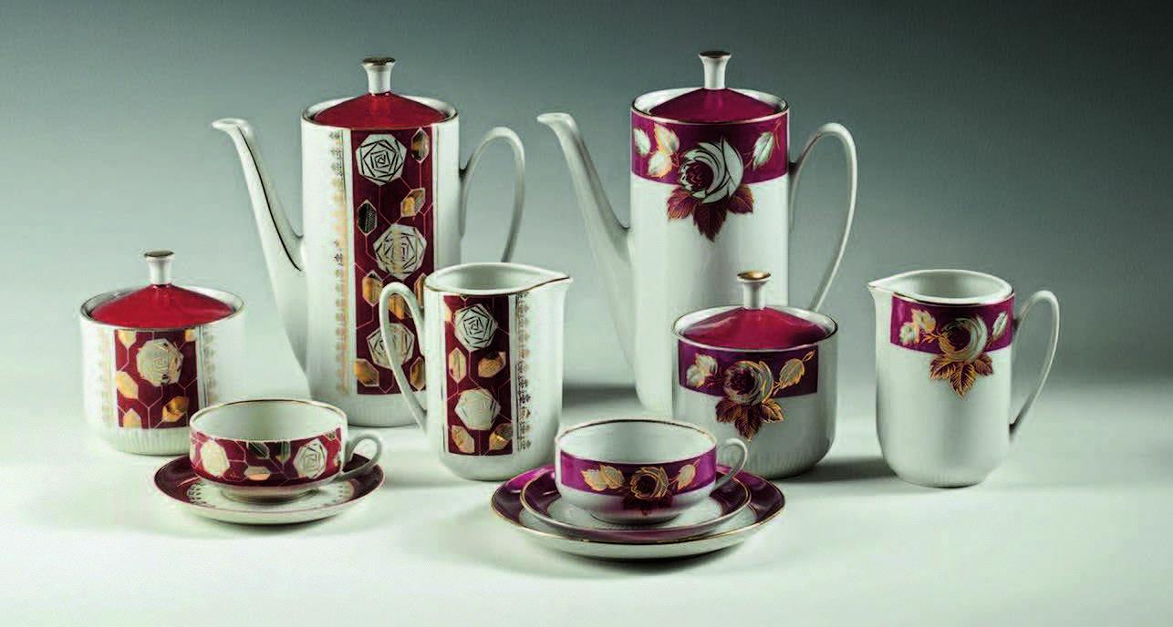 """ZINA ULSTE Kafijas servīze """"Saulīte"""". 1966–1969 Rīgas pašvaldības kultūras iestāžu apvienības Rīgas Porcelāna muzejs"""